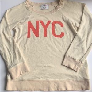 Wildfox girls NYC pullover sweatshirt 7/8